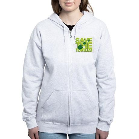 Save Turtle Women's Zip Hoodie