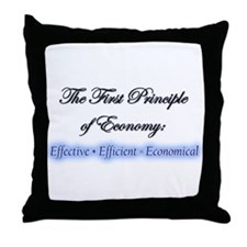 """Econ One"" Throw Pillow"