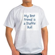 My Best Friend is a Staffie B Ash Grey T-Shirt