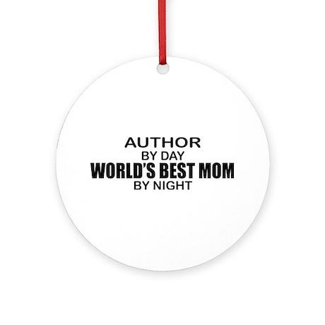 World's Best Mom - Author Ornament (Round)