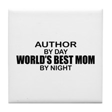 World's Best Mom - Author Tile Coaster
