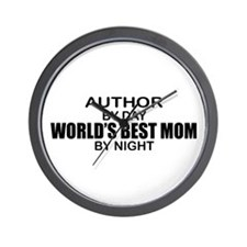 World's Best Mom - Author Wall Clock