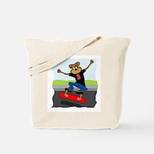 Skater Dog Tote Bag