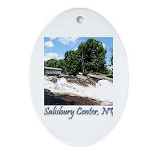 Salisbury Center NY Cov Bridg Ornament (Oval)