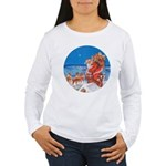 Santa Up On the Rooftop Women's Long Sleeve T-Shir