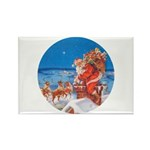 Santa Up On the Rooftop Rectangle Magnet (100 pack