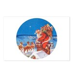 Santa Up On the Rooftop Postcards (Package of 8)