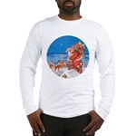 Santa Up On the Rooftop Long Sleeve T-Shirt