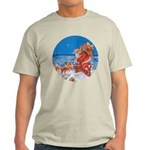 Santa Up On the Rooftop Light T-Shirt