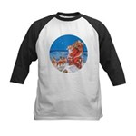Santa Up On the Rooftop Kids Baseball Jersey