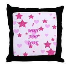 I wish you love Throw Pillow
