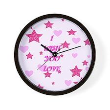 I wish you love Wall Clock