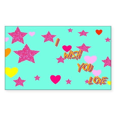 I wish you love Rectangle Sticker