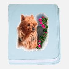 Australian Terrier Art baby blanket