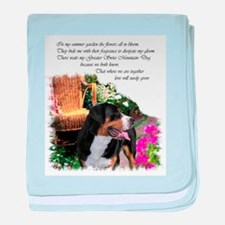 Greater Swiss Mountain Dog baby blanket