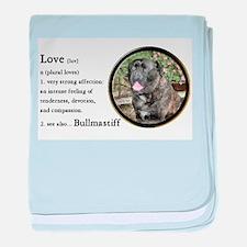 Bullmastiff Love Is baby blanket