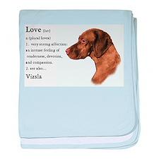 Vizsla Love Is baby blanket