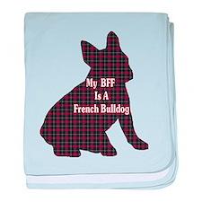 BFF French Bulldog baby blanket