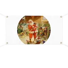 Santa & His Reindeer Banner