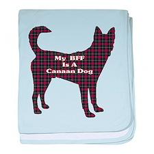 BFF Canaan Dog baby blanket