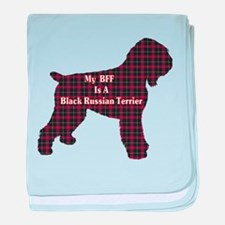 BFF Black Russian Terrier baby blanket