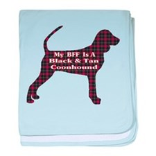 BFF Black and Tan Coonhound baby blanket