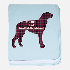 BFF Scottish Deerhound baby blanket