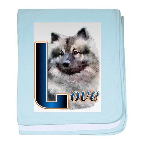Keeshond Love baby blanket