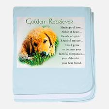 Heritage of Love_Golden Puppy baby blanket