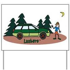 Lesbaru and Leslie Wilderness Yard Sign