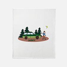 Lesbaru and Leslie Wilderness Throw Blanket