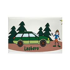 Lesbaru and Leslie Wilderness Rectangle Magnet