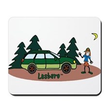 Lesbaru and Leslie Wilderness Mousepad