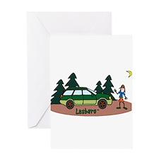 Lesbaru and Leslie Wilderness Greeting Card