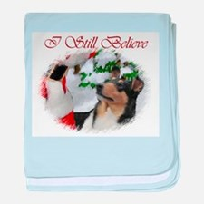 Smooth Collie Christmas baby blanket