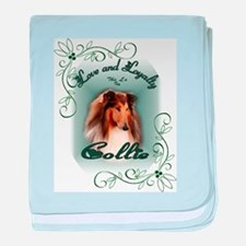 Rough Collie Gifts baby blanket