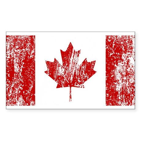 Canada Flag Pride Sticker (Rectangle)