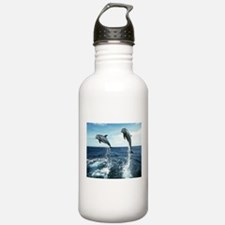 Dolphins In The Ocean Sports Water Bottle