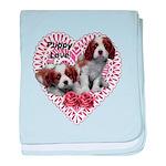 Cavalier Puppy Love baby blanket