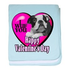 Boston Terrier V-Day baby blanket