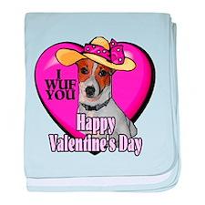 Jack Russell Valentines baby blanket
