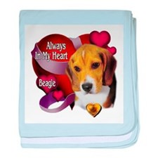 Beagle_Always In My Heart baby blanket