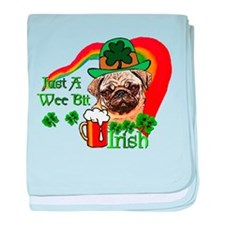 St. Patrick's Day Pug baby blanket