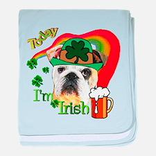Paddys English Bulldog baby blanket