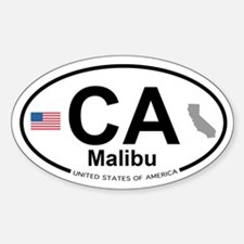 Malibu Sticker (Oval)