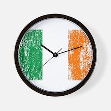 Irish Flag Pattys Drinking Wall Clock