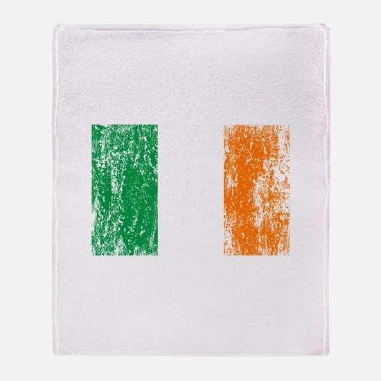 Irish Flag Pattys Drinking Throw Blanket