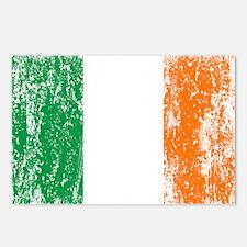 Irish Flag Pattys Drinking Postcards (Package of 8