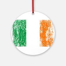 Irish Flag Pattys Drinking Ornament (Round)