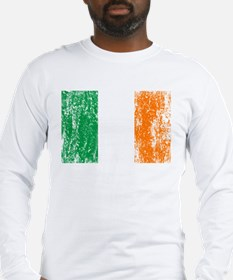 Irish Flag Pattys Drinking Long Sleeve T-Shirt